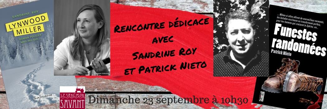 Rencontre dédicace avec sandrine Roy et Patrick Nieto